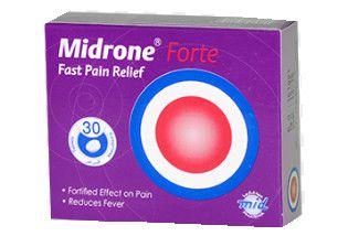 صورة , عبوة , دواء , مسكن للألم , ميدرون فورت , Midrone Forte