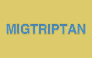 صورة,تصميم, ميجتريبتان, Migtriptan