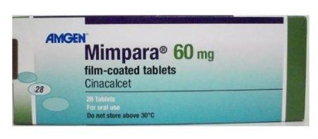 صورة , عبوة , دواء , أقراص مطلية , لعلاج فرط نشاط الغدة نظيرة الدرقية , ميمبارا , Mimpara