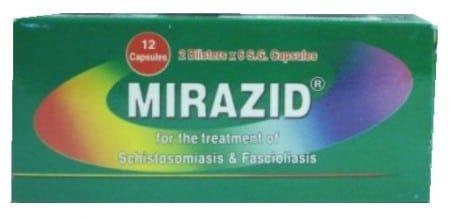 صورة , عبوة , دواء , ميرازيد , علاج البلهارسيا , Mirazid