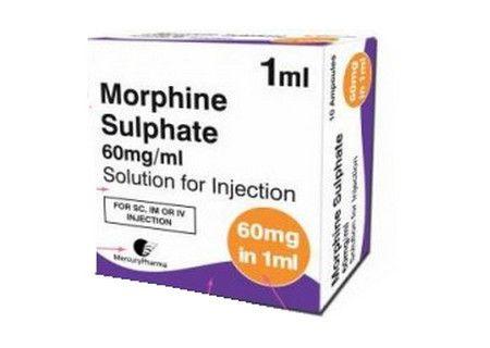 صورة , عبوة , دواء , مورفين سلفات , Morphine sulphate
