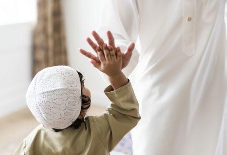 صورة , أب , طفل , خلق المسلم , شهر رمضان