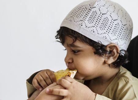 صورة , طفل , مسلم , الصيام , طعام