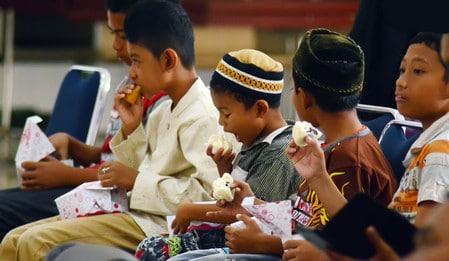 أطفال، مسلمين،صورة،صيام