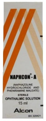 صورة, عبوة ,نافكون - أ, قطرة العين, Naphcon A