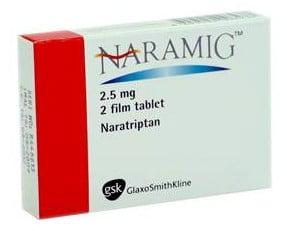 صورة , عبوة , دواء , أقراص , لعلاج الشقيقة , ناراميج , Naramig