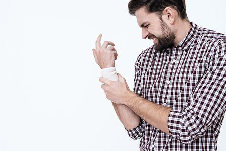 صورة , رجل , يد , التهاب الأعصاب الطرفية