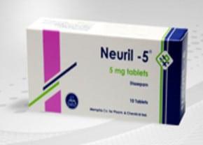 صورة,عبوة, أقراص, نيوريل -5 ,Neuril -5