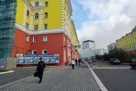 نوريلسك ، روسيا ، بوتوران ، المزارات السياحية ، مسجد نور كمال ، نصب لينين ، منزل الجيولوجيين