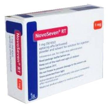 صورة , عبوة , دواء , مسحوق ومذيب لتحضير محلول للحقن , لعلاج النزف , نوفوسيفن أر تي , Novoseven R T