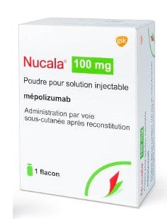 صورة , عبوة , دواء , مسحوق لتحضير محلول للحقن , لعلاج الربو الشديد , نوكالا , Nucala