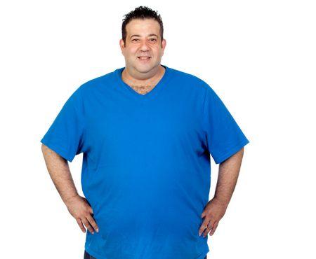 صورة , السمنة , رجل , زيادة الوزن