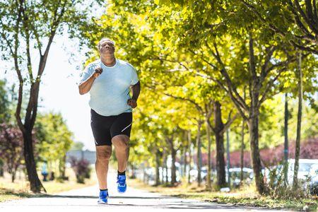 صورة , رجل , السمنة , إنقاص الوزن , ممارسة الرياضة