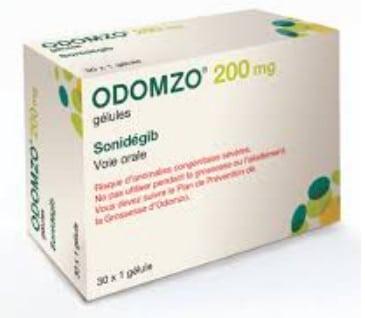 صورة , عبوة , دواء , كبسولات صلبة , لعلاج سرطان الجلد , أودومزو , Odomzo