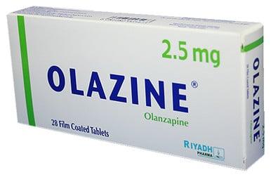 صورة,دواء, عبوة, أولازين, Olazine