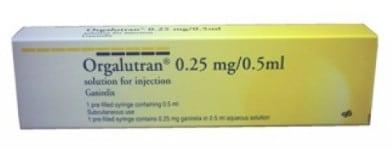 صورة , عبوة , دواء , لمنع إرتفاع هرمون ال HL , أورجالوتران , Orgalutran