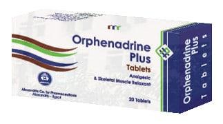 صورة, عبوة, أقراص, أورفينادرين بلاس, Orphenadrine Plus