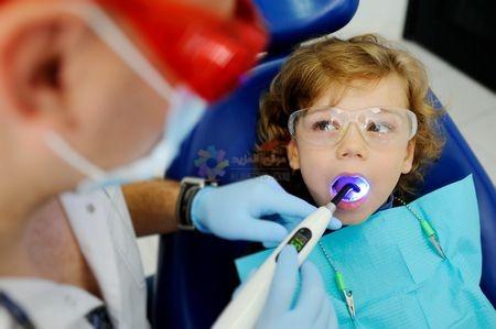صورة , طفل , طبيب أسنان , تقويم الأسنان