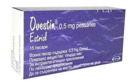 صورة , عبوة , دواء , أقراص , لعلاج جفاف المهبل , أوفستين , Ovestin