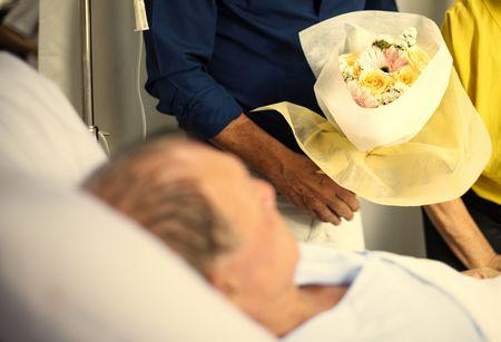 صورة , مريض , عيادة المريض , ورد