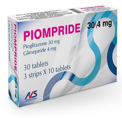 صورة,دواء,علاج,أدوية السكر, عبوة, بيومبريد , Piompride