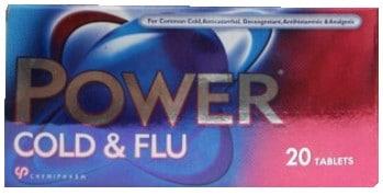 صورة, عبوة, باور كولد آند فلو, Power Cold & Flu