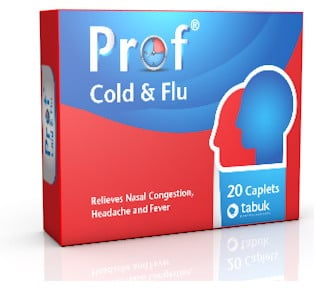 صورة, عبوة, بروف كولد أند فلو, Prof Cold And Flu