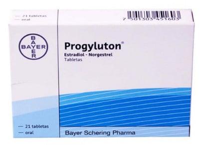 صورة , عبوة , دواء , أقراص , لعلاج عدم انتظام الدورة الشهرية , بروجيلوتون , Progyluton