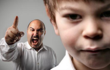 صورة , طفل , أب , أساليب العقاب