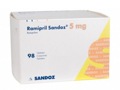 صورة , عبوة , دواء , لعلاج ارتفاع ضغط الدم , راميبريل ساندوز , Ramipril-Sandoz