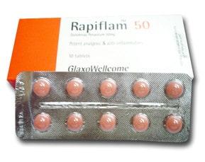 صورة , عبوة , دواء , رابيفلام , 50 Rapiflam