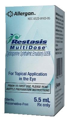 صورة , عبوة , دواء , مستحلب للعينين , لزيادة تشكل الدموع ,  رستازيس ,  Restasis