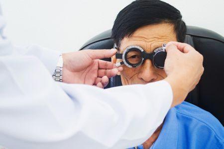 صورة , طبيب , مريض , مرض السكري , عمليات الشبكية , عين