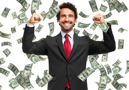 صورة , رجل , نقود , الثراء