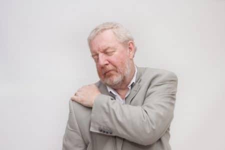 صورة , رجل , مريض , ألم الكتف الأيمن