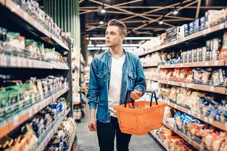 صورة , رجل , التسوق , الروتين اليومي
