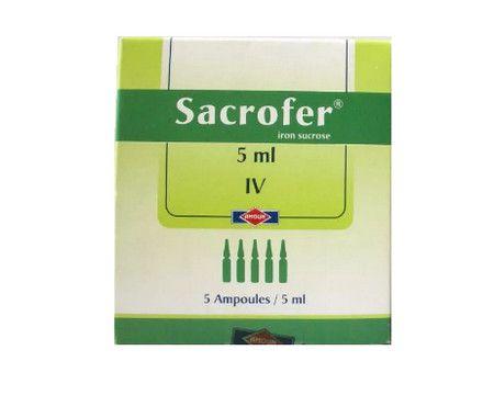 صورة , عبوة , دواء , أمبولات , سكروفير , Sacrofer
