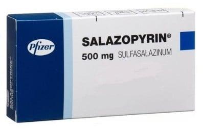 صورة , عبوة , دواء , أقراص , لعلاج التهاب القولون التقرحي , سالازوبيرين , Salazopyrin