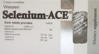 صورة, أقراص, سيلينيوم إيه سي إي , Selenium ACE