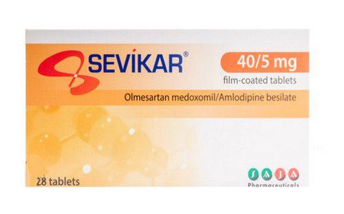 صورة , عبوة , دواء , لعلاج ارتفاع ضغط الدم , سيفيكار , Sevikar