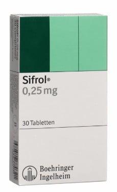 صورة , عبوة , دواء , أقراص , لعلاج متلازمة تململ الساقين , سيفرول , Sifrol