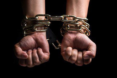 صورة , يد , الرق , العبودية , سلاسل