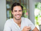 صورة , رجل , الابتسامة , التعبير