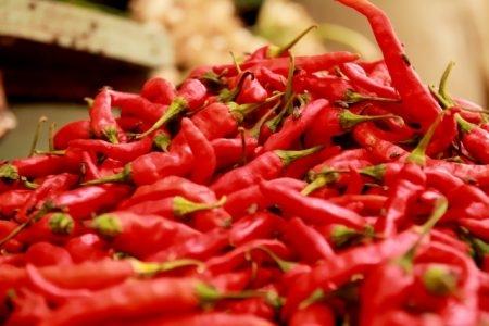 صورة , فلفل أحمر حار , التهاب الحلق , آلام الحلق