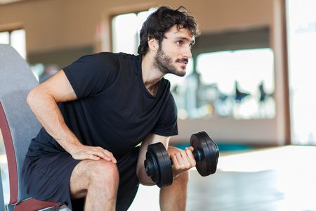 صورة , رجل , ممارسة الرياضة , رفع الأثقال