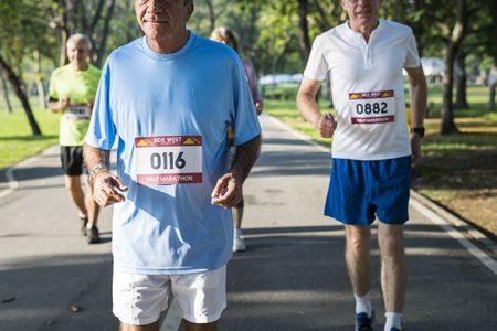 صورة , الرياضيين , ممارسة الرياضة , سن الأربعين , كبار السن