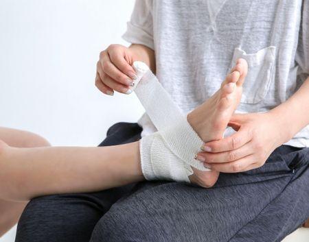 الإصابات الرياضية ، صورة ، إصابة ، قدم ، رياضة