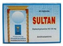 صورة , عبوة , دواء , كبسولات , مضاد للهيستامين , سلطان , Sultan