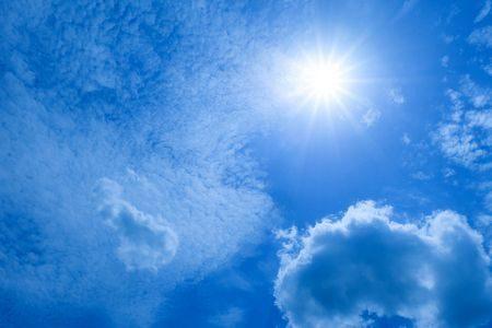 صورة , السماء , الشمس , السحاب