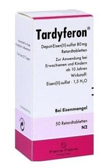 صورة , عبوة , دواء , أقراص , لعلاج فقر الدم , ترديفرون , Tardyferon